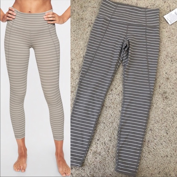 50b96a4920d84 Athleta Pants | Stripe Salutation 78 Tight | Poshmark